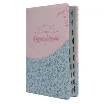 Biblia RVR60 Simil Piel Recuerdo de Boda Blanco/Lino/Encaje