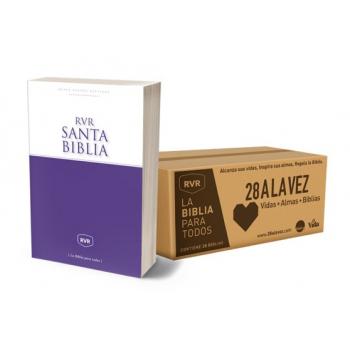Caja con 28 Biblias RVR edición Económica (28 a la Vez)