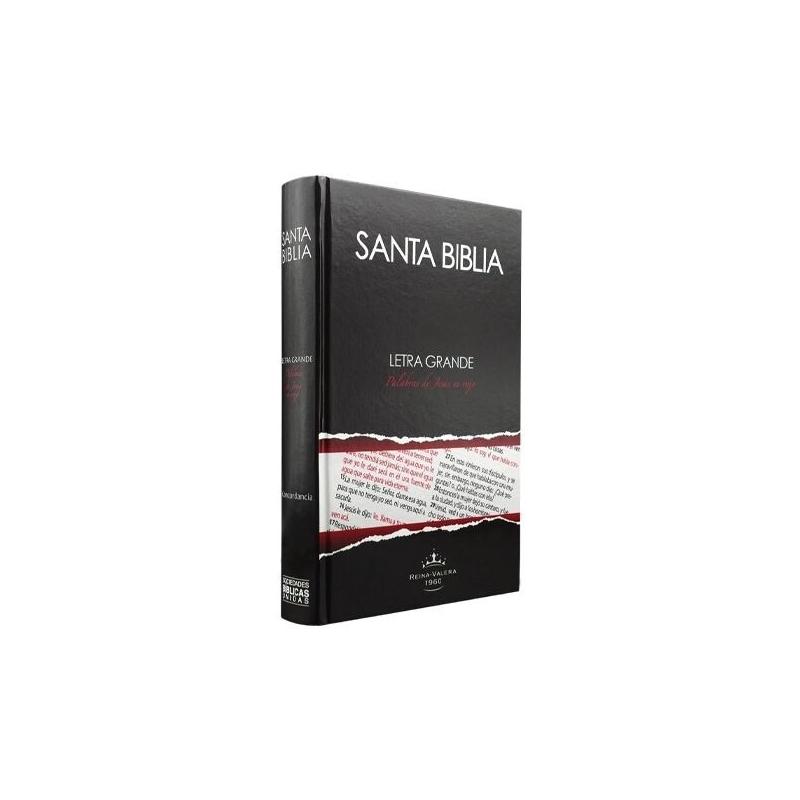 Biblia Mediana Tapa Dura Azul Letra Grande Concordancia Rvr063clg