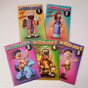"""Libros para colorear """"La Biblia para ti"""" 5 Piezas"""