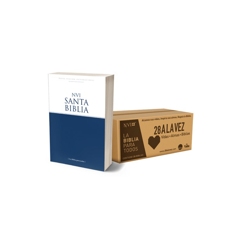 Caja con 28 Biblias  NVI edición Económica (28 a la Vez)