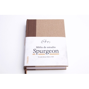 RVR 1960 Biblia de estudio Spurgeon, negro/marron simil piel