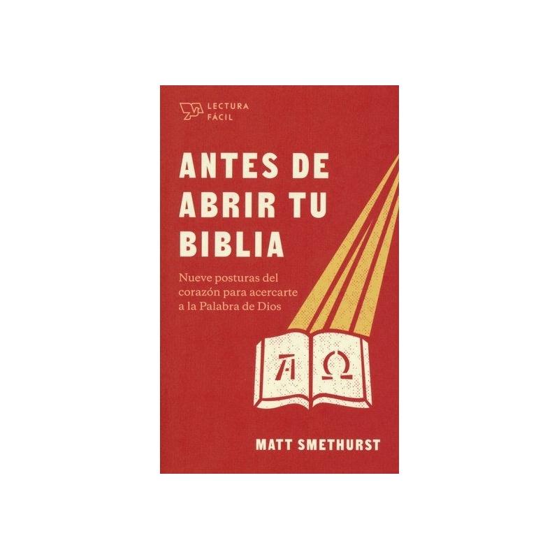 Antes de abrir la Biblia