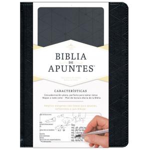 Biblia de Apuntes, piel simil negra RVR 1960