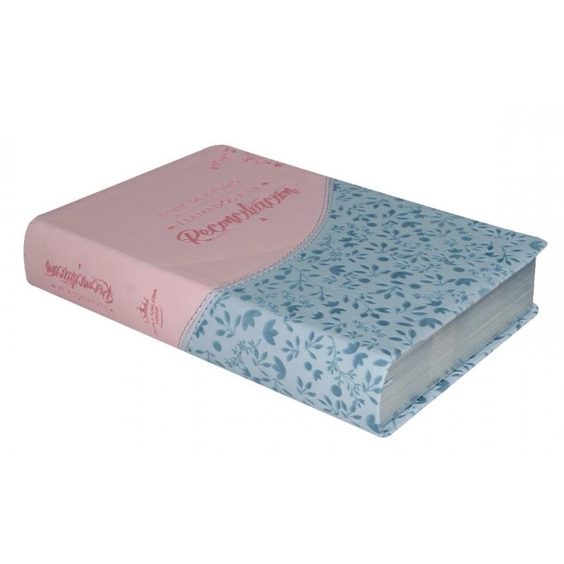 Biblia de Estudio Llamados a la Reconciliación RV1960, imit. piel, rosa floral con índice