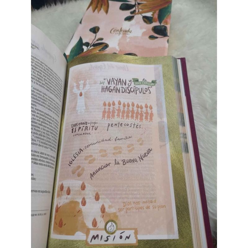 Biblia dev. para mujeres RVR 1960 centrada en Cristo, piel imit.