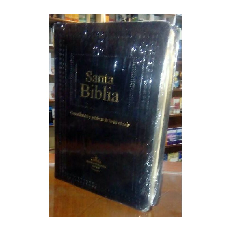 Biblia Letra Gigante Relieve Lujo Cafe - Negra