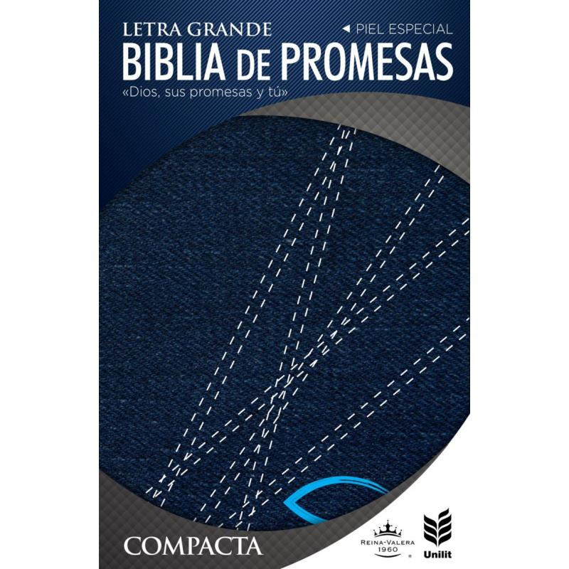 Biblia Promesas Compacta Negra con Cierre