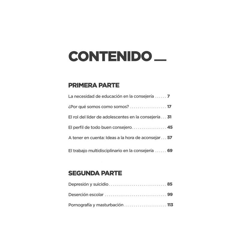 Manual de Consejeria para el Trabajo con Adolescentes