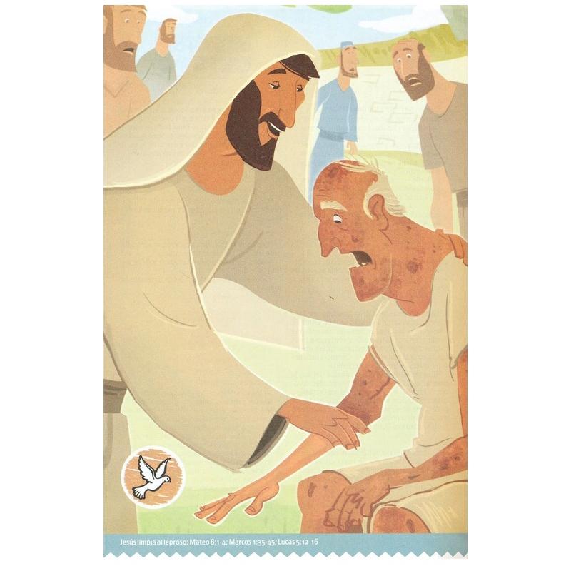 La Gran Historia Biblia Interactiva NTV, Tela para Colorear Blanca