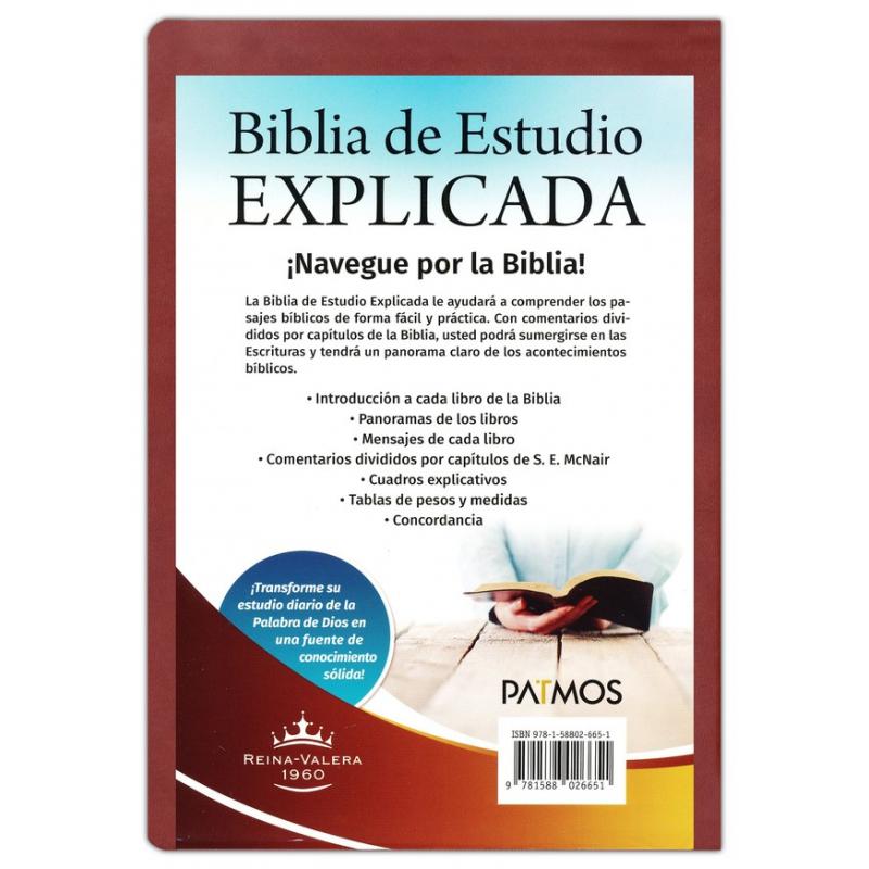 Biblia de Estudio Explicada con Concordancia RVR 1960