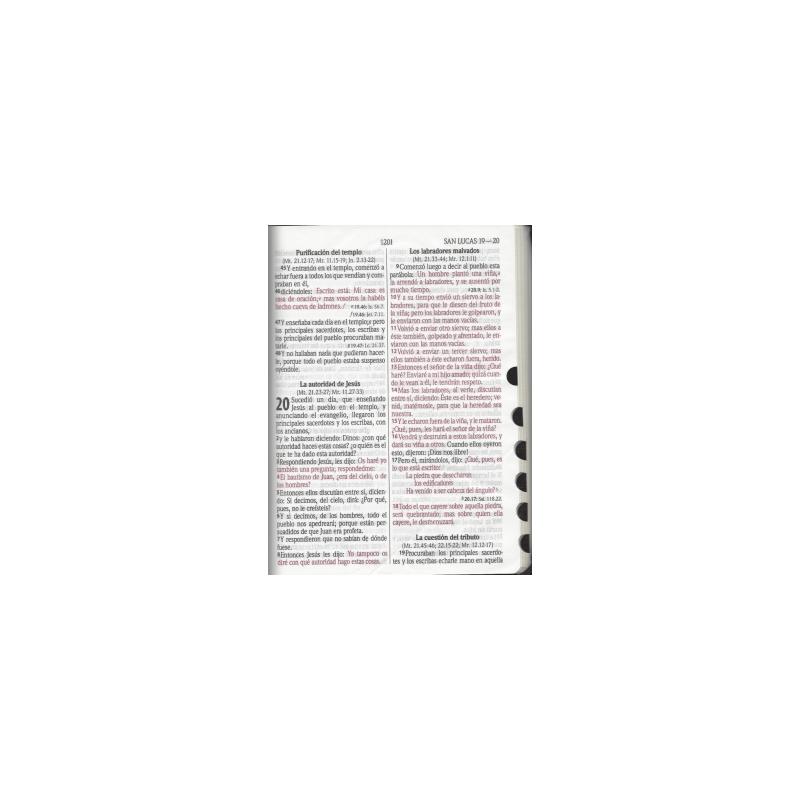 Biblia Cafe RVR60 Letra Gigante Cierre e Indice PJR